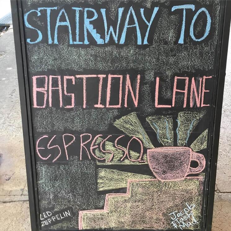 Stairway to Bastion Lane Espresso