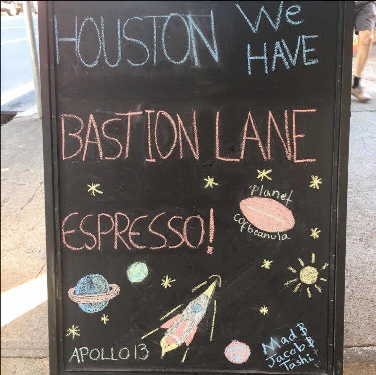 Houston we have Bastion Lane Espresso!