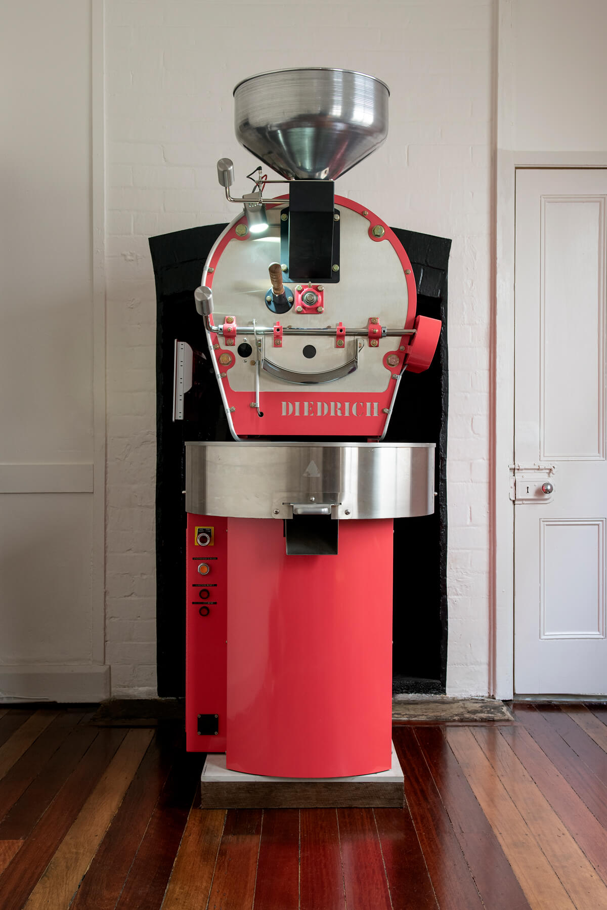 Renowned as one of the cleanest, most environmentally friendly coffee roasters in the world is our hot pink Diedrich